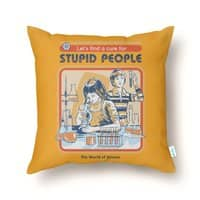 A Cure for Stupid People - throw-pillow - small view