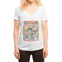 A Cure for Stupid People - womens-deep-v-neck - small view