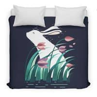 Rabbit, Resting - duvet-cover - small view