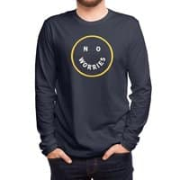 No Worries - mens-long-sleeve-tee - small view
