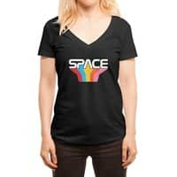 Space Text - womens-deep-v-neck - small view