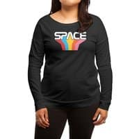 Space Text - womens-long-sleeve-terry-scoop - small view
