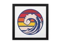 Ride the Wave - black-square-framed-print - small view