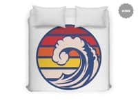 Ride the Wave - duvet-cover - small view