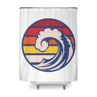 Ride the Wave - shower-curtain - small view