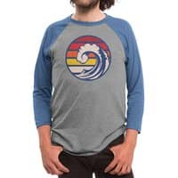 Ride the Wave - triblend-34-sleeve-raglan-tee - small view
