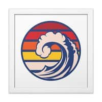 Ride the Wave - white-square-framed-print - small view