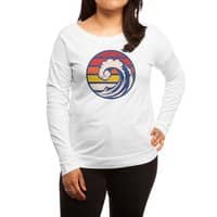Ride the Wave - womens-long-sleeve-terry-scoop - small view