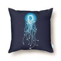 Electric Jellyfish - throw-pillow - small view