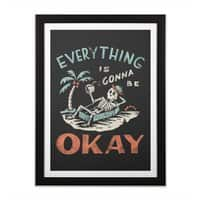 Okay - black-vertical-framed-print - small view