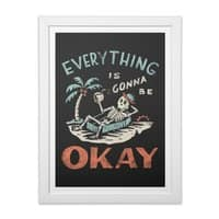 Okay - white-vertical-framed-print - small view