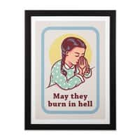Burn in Hell - black-vertical-framed-print - small view