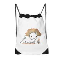 Tiny Triceratops - drawstring-bag - small view
