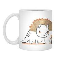 Tiny Triceratops - white-mug - small view