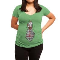 It is in the bushes - womens-deep-v-neck - small view