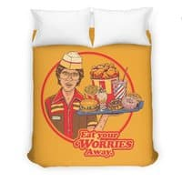 Eat Your Worries - duvet-cover - small view