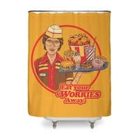 Eat Your Worries - shower-curtain - small view