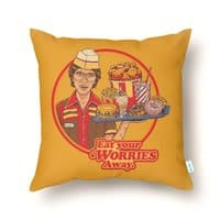 Eat Your Worries - throw-pillow - small view