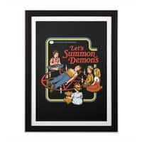 Let's Summon Demons (Black Variant) - black-vertical-framed-print - small view