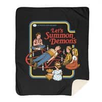 Let's Summon Demons (Black Variant) - blanket - small view
