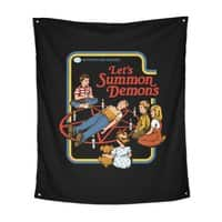 Let's Summon Demons (Black Variant) - indoor-wall-tapestry-vertical - small view