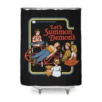 Let's Summon Demons (Black Variant) - shower-curtain - small view