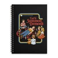 Let's Summon Demons (Black Variant) - spiral-notebook - small view