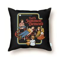 Let's Summon Demons (Black Variant) - throw-pillow - small view