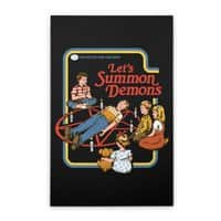 Let's Summon Demons (Black Variant) - vertical-stretched-canvas - small view