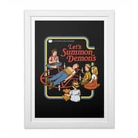 Let's Summon Demons (Black Variant) - white-vertical-framed-print - small view