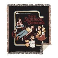 Let's Summon Demons (Black Variant) - woven-blanket - small view