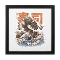 Great Sushi Dragon  - black-square-framed-print - small view