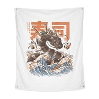 Great Sushi Dragon  - indoor-wall-tapestry-vertical - small view