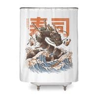 Great Sushi Dragon  - shower-curtain - small view