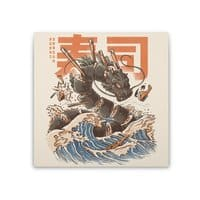Great Sushi Dragon  - square-stretched-canvas - small view