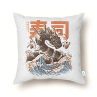 Great Sushi Dragon  - throw-pillow - small view