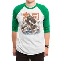 Great Sushi Dragon  - triblend-34-sleeve-raglan-tee - small view