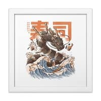 Great Sushi Dragon  - white-square-framed-print - small view