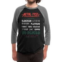 METAL FEST - triblend-34-sleeve-raglan-tee - small view
