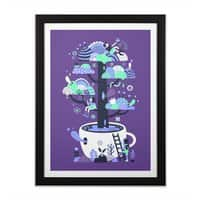 Up a tree cup - black-vertical-framed-print - small view