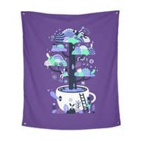 Up a tree cup - indoor-wall-tapestry-vertical - small view