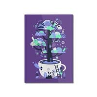 Up a tree cup - vertical-mounted-aluminum-print - small view
