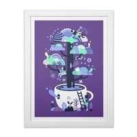 Up a tree cup - white-vertical-framed-print - small view