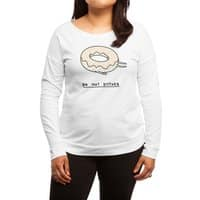 Donut Disturb - womens-long-sleeve-terry-scoop - small view