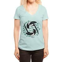 The Joy of Spring - womens-deep-v-neck - small view