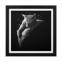 MOONCAT 2018 - black-square-framed-print - small view