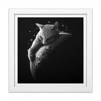MOONCAT 2018 - white-square-framed-print - small view