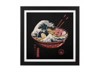 Great Ramen Wave - black-square-framed-print - small view