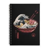 Great Ramen Wave - spiral-notebook - small view