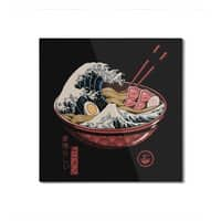 Great Ramen Wave - square-mounted-aluminum-print - small view